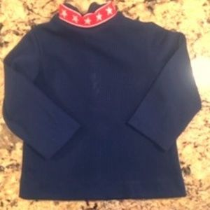Vintage, 70's Girls Blue Shirt with Stars